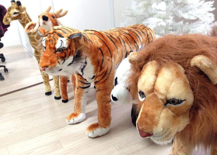 獅子 熊猫 虎 鹿 麒麟