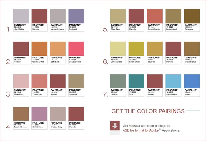 Marsala la couleur de l 39 ann e 2015 pentone marsala mood pinterest - Color design tollens ...